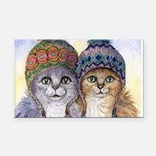 The knitwear cat sisters Rectangle Car Magnet