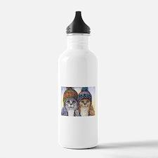 The knitwear cat sisters Water Bottle