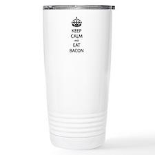Keep Calm Eat Bacon Travel Mug