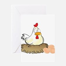 Chicken and Eggs Greeting Card