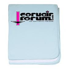 Girls Corvair Forum Logo baby blanket