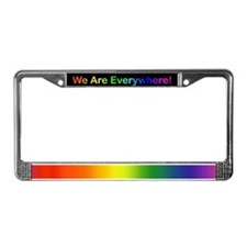 We Are Everywhere License Plate Frame