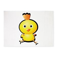 Cartoon Baby Chick-2 5'x7'Area Rug