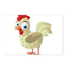 White Chicken Postcards (Package of 8)