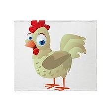 White Chicken Throw Blanket