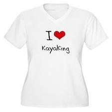 I Love Kayaking Plus Size T-Shirt