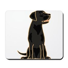 Cute Black Labrador Dog Mousepad