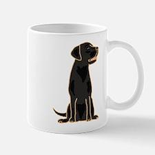 Cute Black Labrador Dog Mug