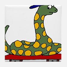 Boa Constrictor on Skateboard Tile Coaster