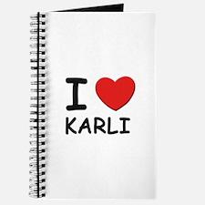I love Karli Journal