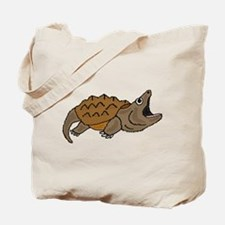 Funky Snapping Turtle Tote Bag
