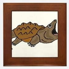 Funky Snapping Turtle Framed Tile