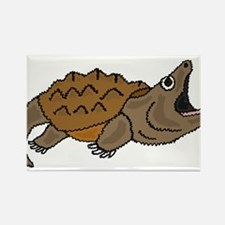 Funky Snapping Turtle Rectangle Magnet