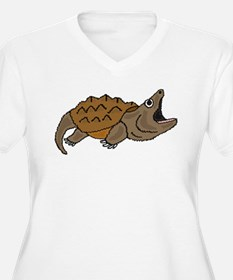 Funky Snapping Turtle Plus Size T-Shirt
