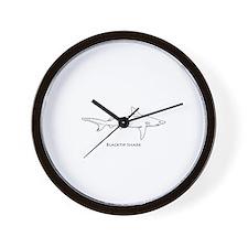 Blacktip Shark Logo Wall Clock