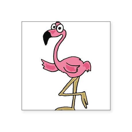 Pink Flamingo Art Sticker