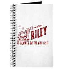 Nice List Riley Christmas Journal