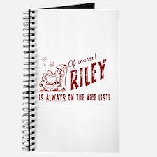 Nice List Riley Christmas Journal