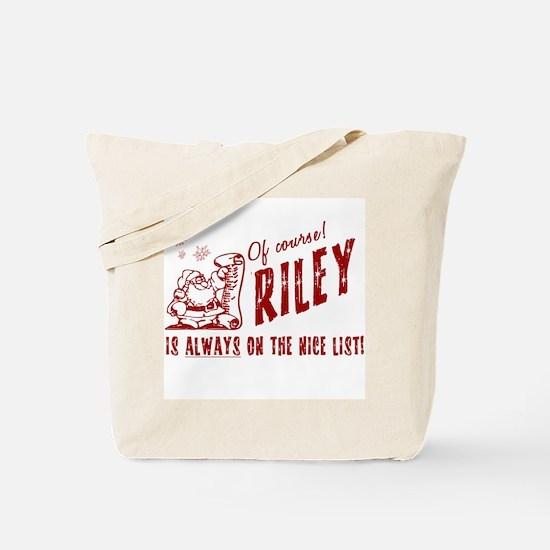 Nice List Riley Christmas Tote Bag