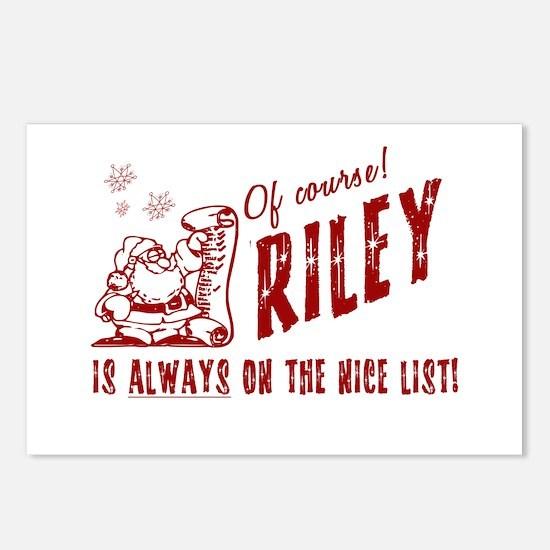 Nice List Riley Christmas Postcards (Package of 8)