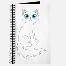 Cute Ragdoll Cat - White with Blue Eyes Journal