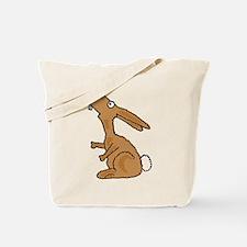 Funny Dumb Bunny Cartoon. Tote Bag