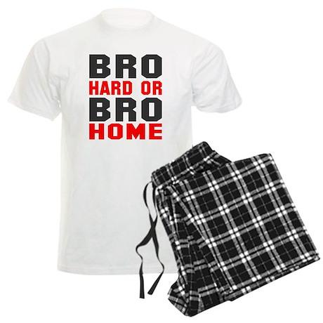Bro Hard Or Bro Home Men's Light Pajamas