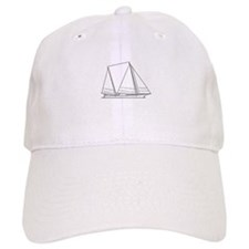Bugeye Sailboat (line art) Baseball Baseball Cap