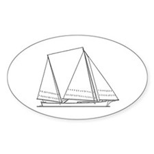 Bugeye Sailboat (line art) Decal
