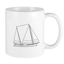 Bugeye Sailboat (line art) Mug