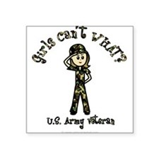 Light Army Veteran Rectangle Sticker