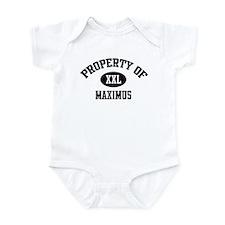 Property of Maximus Infant Bodysuit
