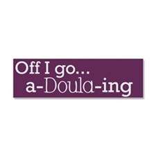 Cute Doula Car Magnet 10 x 3