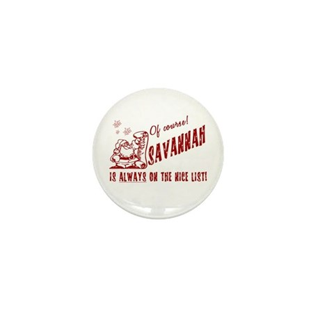 Nice List Savannah Christmas Mini Button (10 pack)