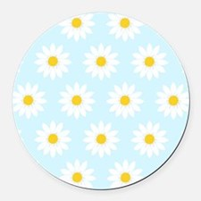 'Daisies' Round Car Magnet