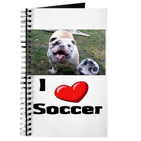 Soccer Playing Bulldog Journal
