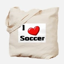 Soccer Playing Bulldog Tote Bag