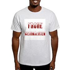 Frohe Weihnachten Ash Grey T-Shirt