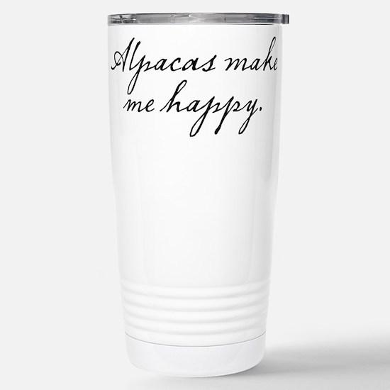 Alpacas make me happy Stainless Steel Travel Mug