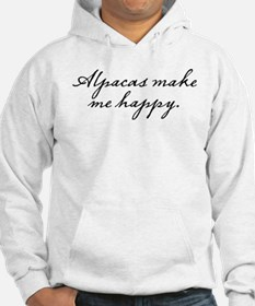 Alpacas make me happy Jumper Hoody