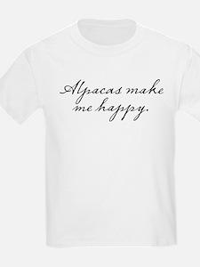 Alpacas make me happy T-Shirt