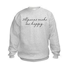 Alpacas make me happy Sweatshirt