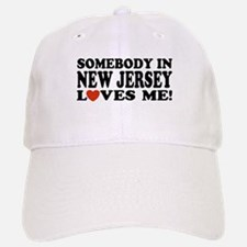 Somebody in New Jersey Loves Baseball Baseball Cap