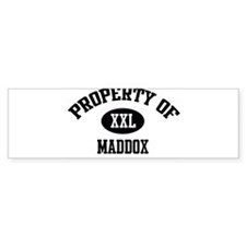 Property of Maddox Bumper Bumper Sticker