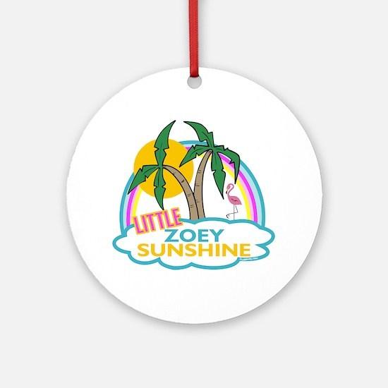 Island Girl Zoey Personalized Ornament (Round)