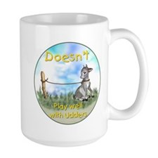 Goats-Doesn't Play Well with Udders Mug