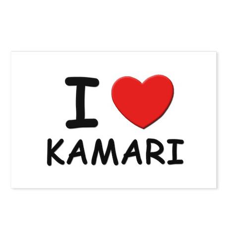 I love Kamari Postcards (Package of 8)
