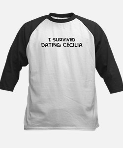 Survived Dating Cecilia Kids Baseball Jersey