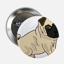 "Cute Pug Puppy Dog 2.25"" Button"