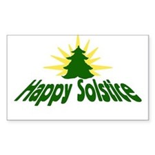 Happy Solstice Rectangle Decal